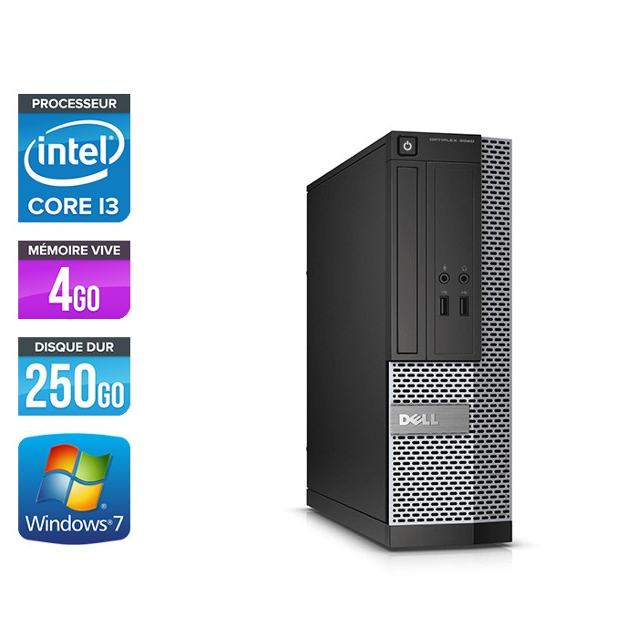 Dell Optiplex 3020 SFF - i3 - 4Go - 250Go - W7