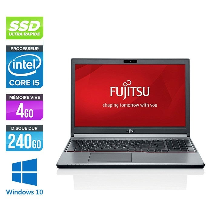 Fujitsu LifeBook E756 - i5-6300U - 4Go - 240Go SSD - WINDOWS 10