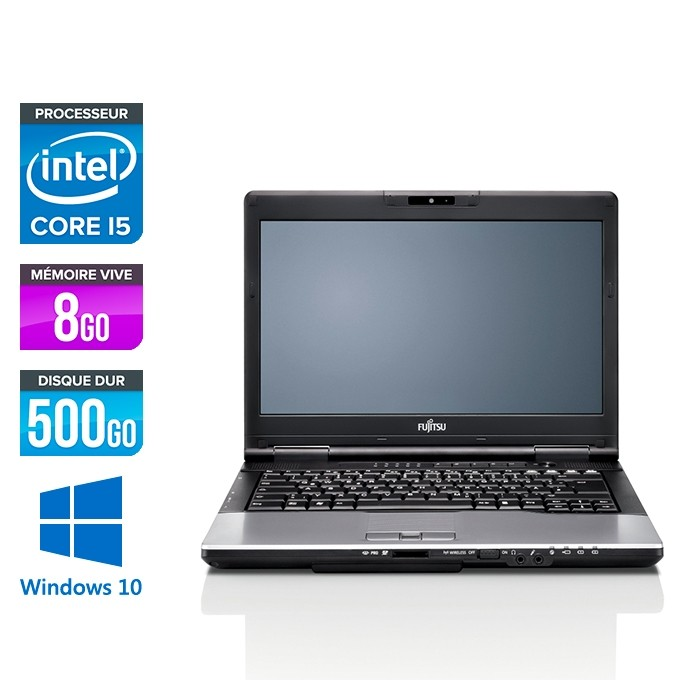 Fujitsu LifeBook E752 - i5 - 8Go - 500Go HDD - WINDOWS 10