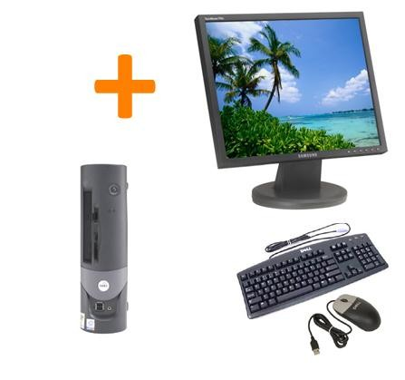 "Dell Optiplex GX260 SFF + Ecran TFT 17"" + Clavier + Souris"