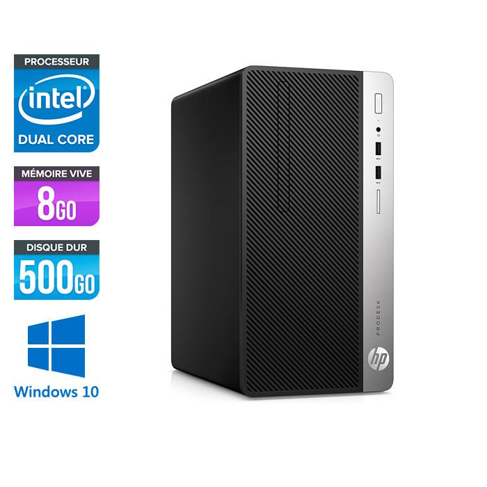 Pc de bureau reconditionné - HP ProDesk 400 G4 Tour - Celeron - 8Go - 500Go HDD - W10