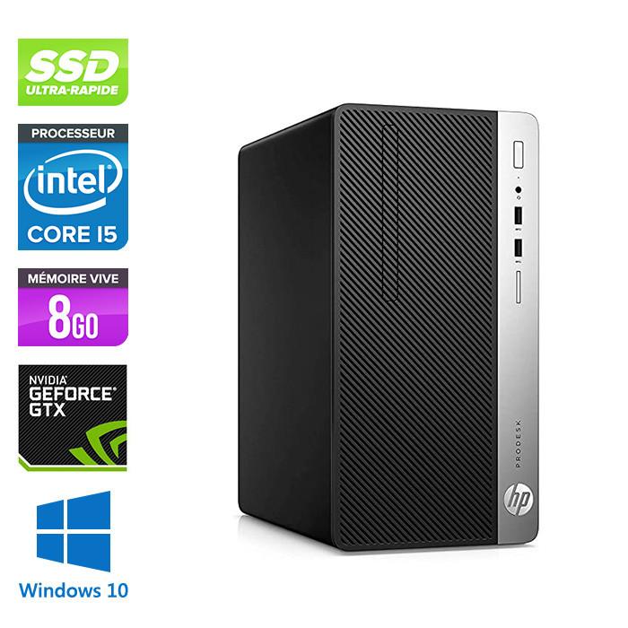 Pc de bureau reconditionné - HP ProDesk 400 G5 Tour - i5 - 8Go - 240Go SSD - Nvidia GTX 1050 - W10