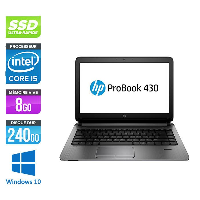 HP 430 G2 - i5 - 8Go - 240Go SSD -13.3'' - W10