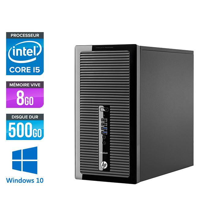 Pc de bureau reconditionné - HP ProDesk 490 G2 Tour - i5-4590 - 8Go DDR3 - 500Go HDD - Windows 10