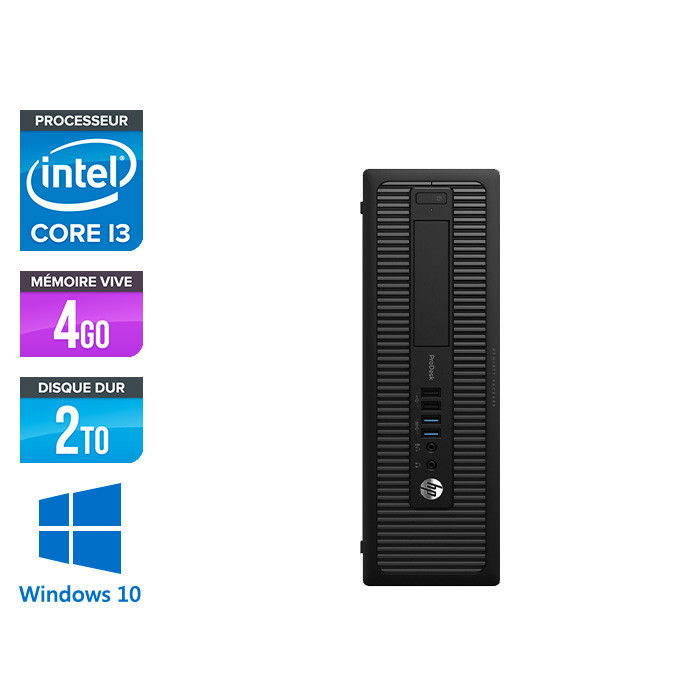 HP 600 G1 SFF - i3 - 4Go - 500 HDD - W10