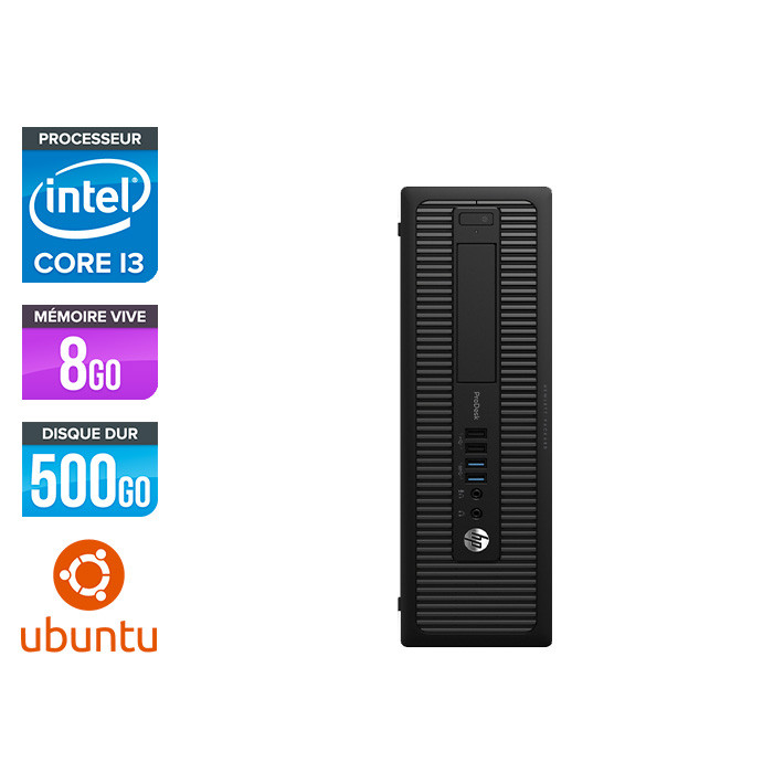 HP 600 G1 SFF - i3 - 8Go - 500 HDD - Linux