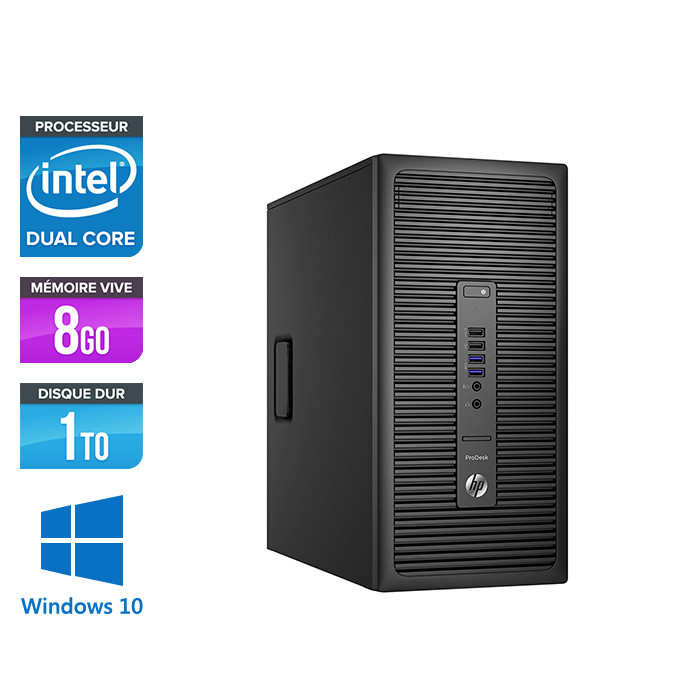 HP ProDesk 600 G2 Tour - G4400 - 8Go DDR4 - 1To HDD - Windows 10