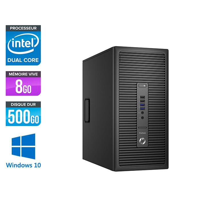 HP ProDesk 600 G2 Tour - G4400 - 8Go DDR4 - 500Go - Windows 10