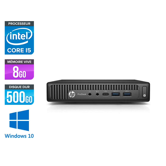HP ProDesk 600 G2 DM - i5-6500T - 8Go DDR4 - 500Go HDD - Windows 10
