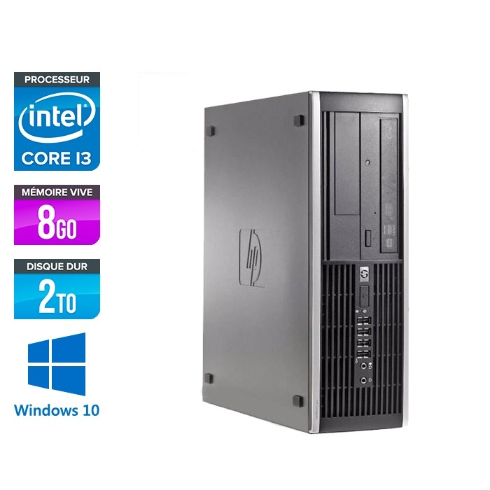 HP 6300 Pro SFF - i3 - 8Go- 2To HDD - Windows 10