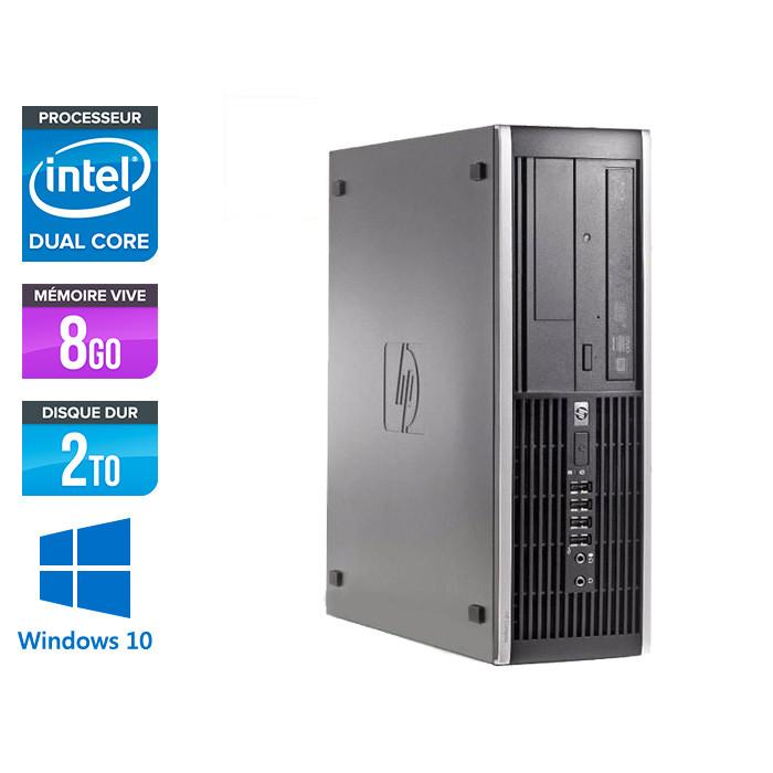 HP 6200 PRO SFF - Pentium - 8 Go - 2 To - Windows 10