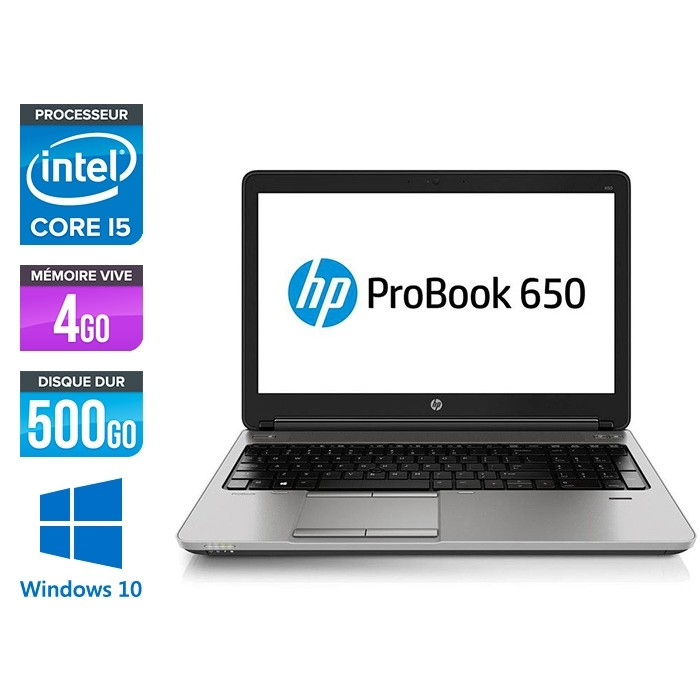 HP 650 G2 - i5 6300 - 4Go - 500Go HDD -15.6'' - Win10