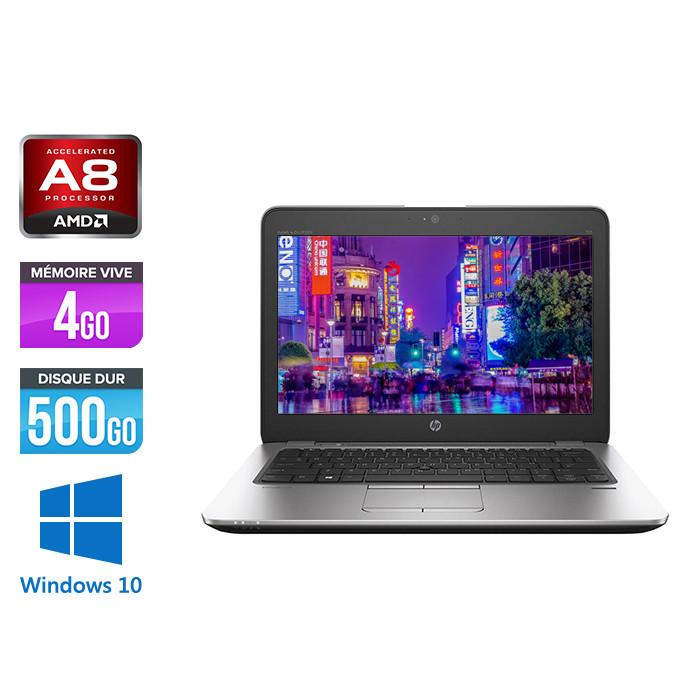 HP Elitebook 725 G3 - A8 - 4Go - 500Go HDD - 12.5'' - Windows 10