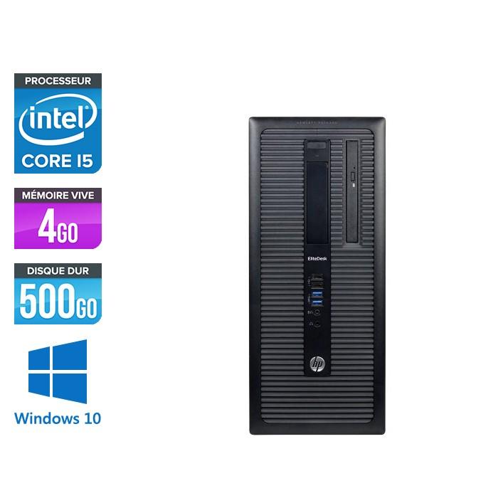 HP EliteDesk 800 G1 Tour - i5 - 4Go - 500Go HDD - Windows 10