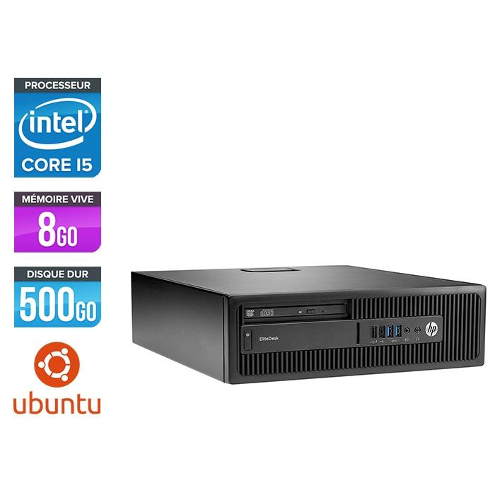 HP EliteDesk 800 G2 SFF - i5 - 8Go DDR4 - 500Go HDD - Ubuntu / Linux