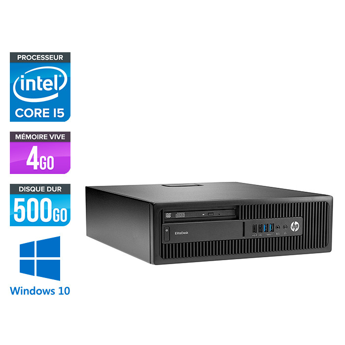 HP EliteDesk 800 G2 SFF - i5 - 4Go DDR4 - 500Go HDD - Windows 10