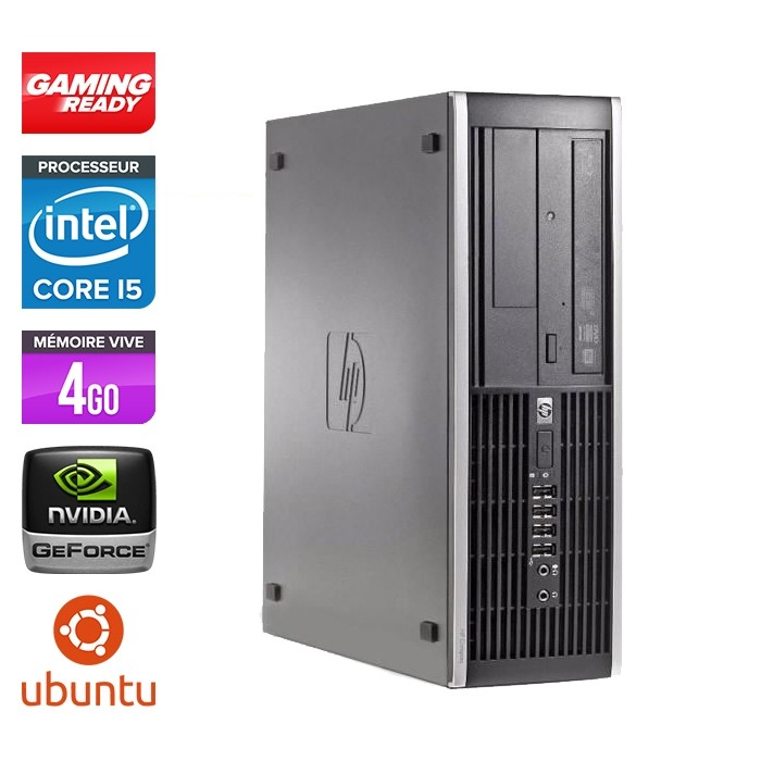 Hp 8200 SFF - Gaming - i5 - 4Go - 500Go HDD - GT 1030 - Linux