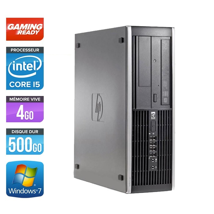 Hp 8200 SFF - Gaming - i5 - 4Go - 500Go HDD - GT 1030 - Windows 7 PRO