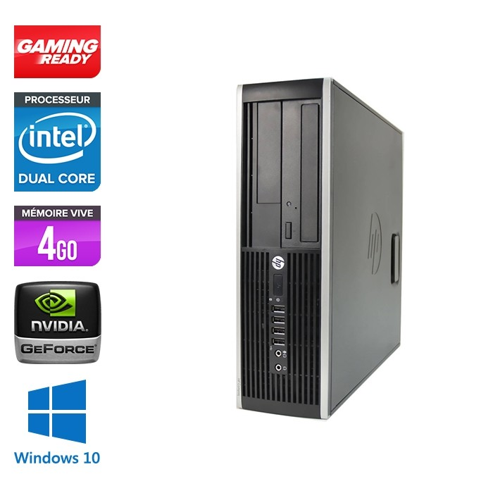 Hp 8200 SFF - Gaming - G840 - 4Go - 500Go HDD - GT 1030 - Windows 10 Pro