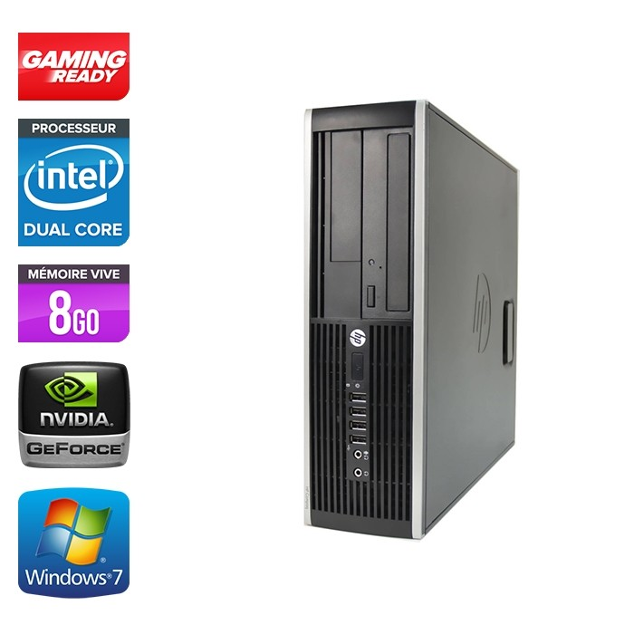 Hp 8200 SFF - Gaming - G840 - 8Go - 500Go HDD - GT 1030 - Windows 7 Pro