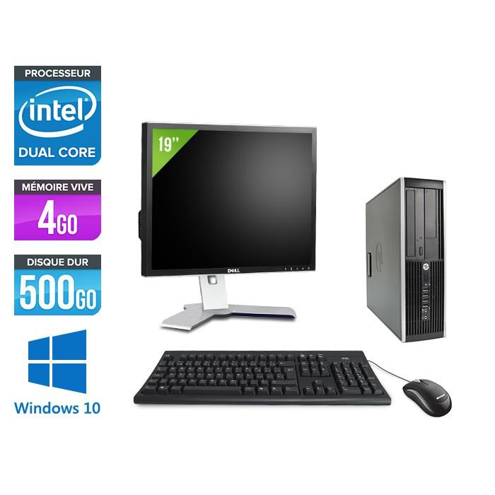 "HP Elite 8200 SFF + Ecran 19"" - Intel G840 - 4Go - 500Go - Windows 10"