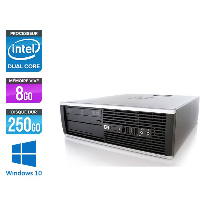 HP Elite 8200 SFF - Intel G840 - 8Go - 250Go HDD - Windows 10