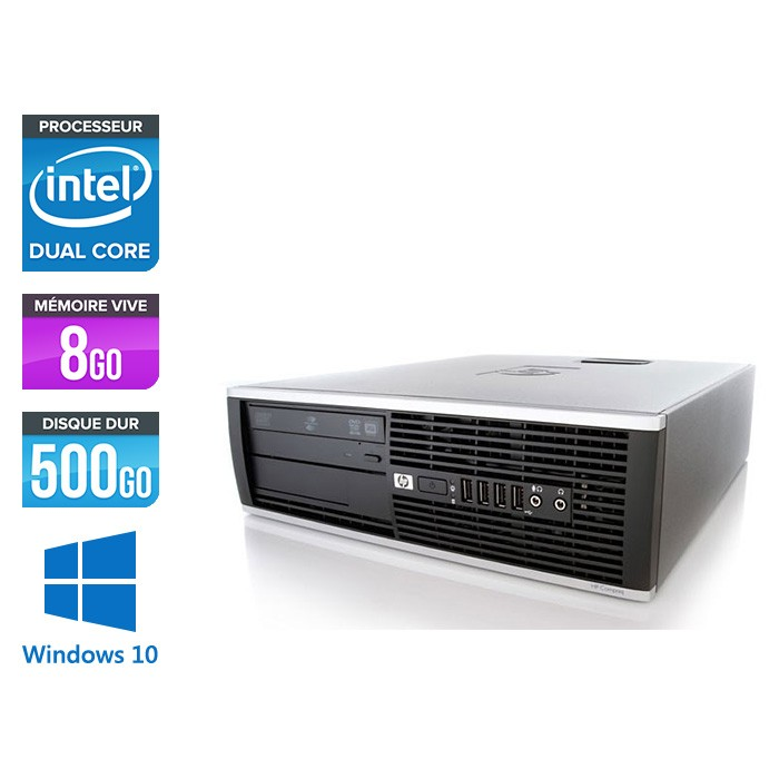 HP Elite 8200 SFF - Intel G840 - 8Go - 500Go HDD - Windows 10
