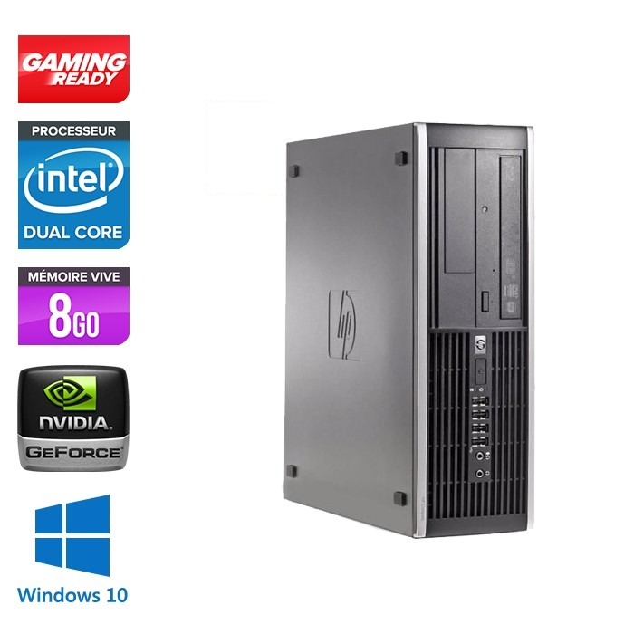 HP Elite 8300 SFF - G870 - 8Go - 500Go - Nvidia GT 1030 - Windows 10