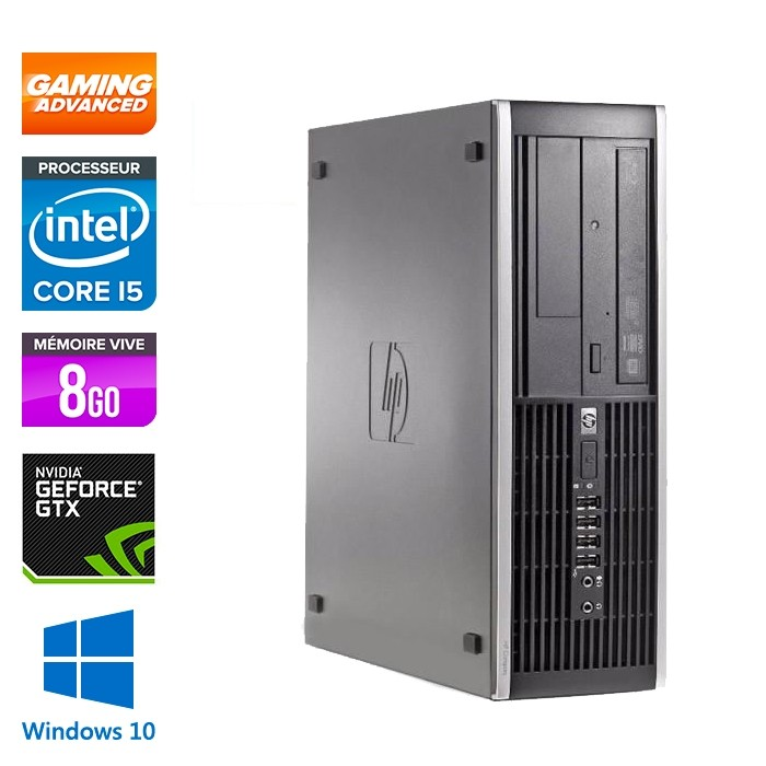 HP Elite 8300 SFF - i5 - 8Go - 500Go HDD - Nvidia GTX 1050 - W10