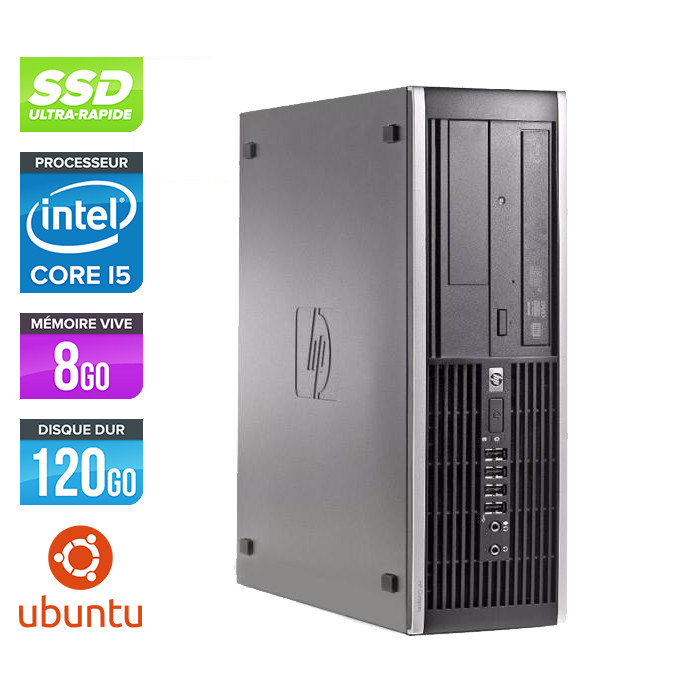 Pc de bureau professionnel reconditionné - HP 8300 SFF - Intel i5-3470 - 8Go - 120Go SSD - Linux