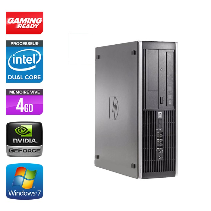 HP Elite 8300 SFF - G870 - 4Go - 500Go - Nvidia GT 1030 - Windows 7