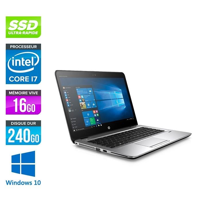 HP Elitebook 820 G3 - i7 6600U - 16Go - 240 Go SSD  - Windows 10