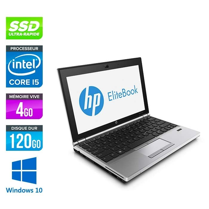 HP EliteBook 2570P - i5 - 4Go - 120Go SSD - Windows 10