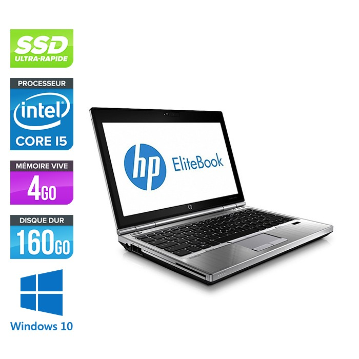 HP EliteBook 2570P - Core i5 - 4Go - 160Go SSD - Windows 10