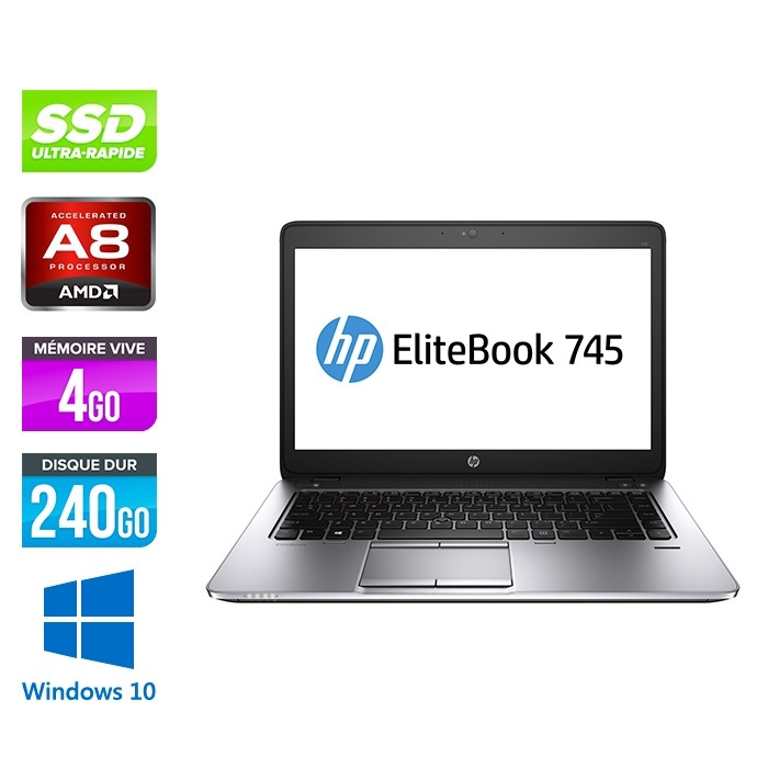 HP Elitebook 745 G2 - i5 - 4Go - SSD 240Go - 14'' - Windows 10
