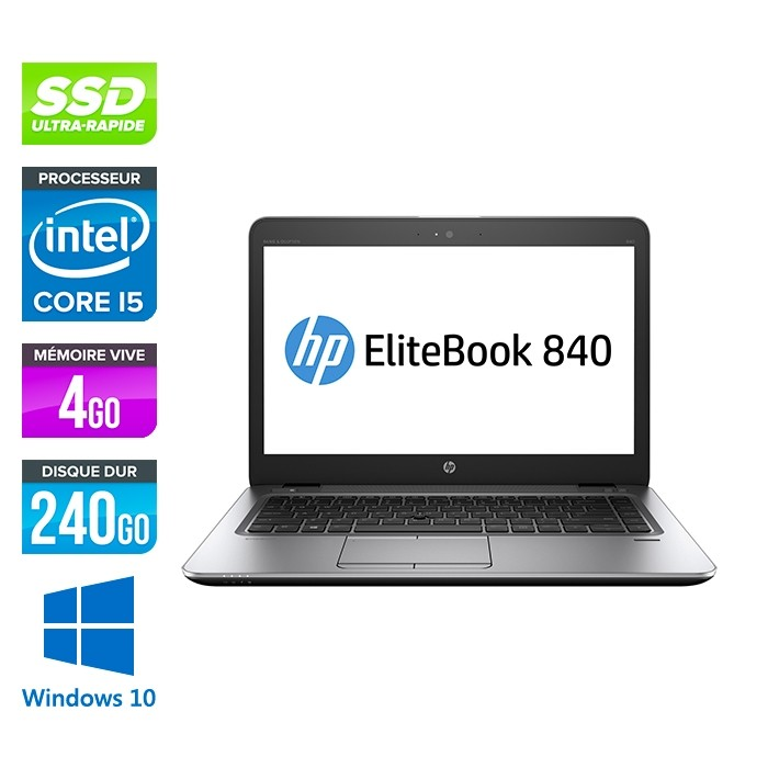 HP Elitebook 840 G2 - i5 - 4Go - SSD 240Go - 14'' - Windows 10