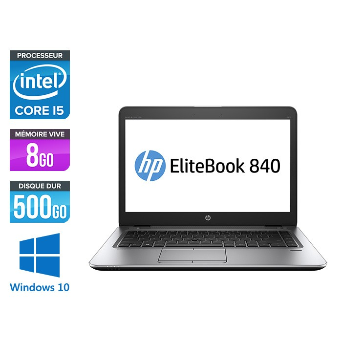 HP Elitebook 840 - i5 4300U - 8 Go - 5000Go HDD - 14'' HD - Windows 10 - 2