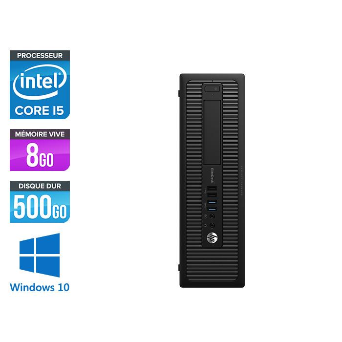 Ordinateur de bureau - HP EliteDesk 800 G1 SFF reconditionné - i5 - 8Go - 500Go HDD - Windows 10