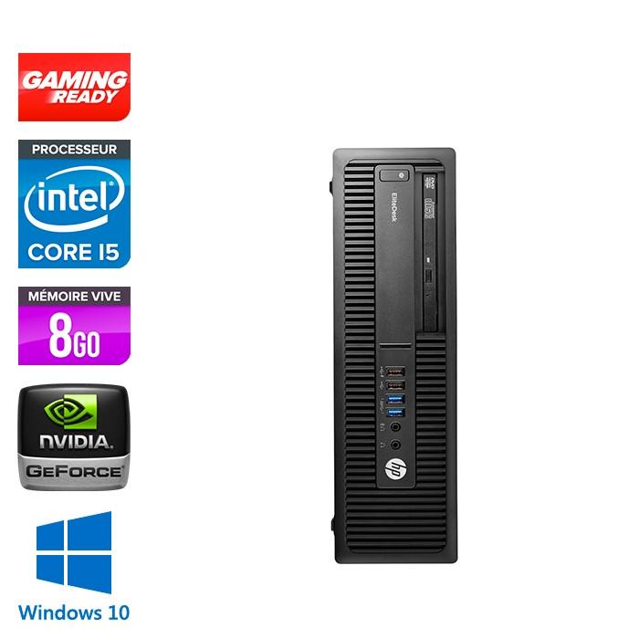 HP EliteDesk 800 G2 SFF - i5 - 8Go DDR4 - 500Go HDD - GT1030 - Windows 10