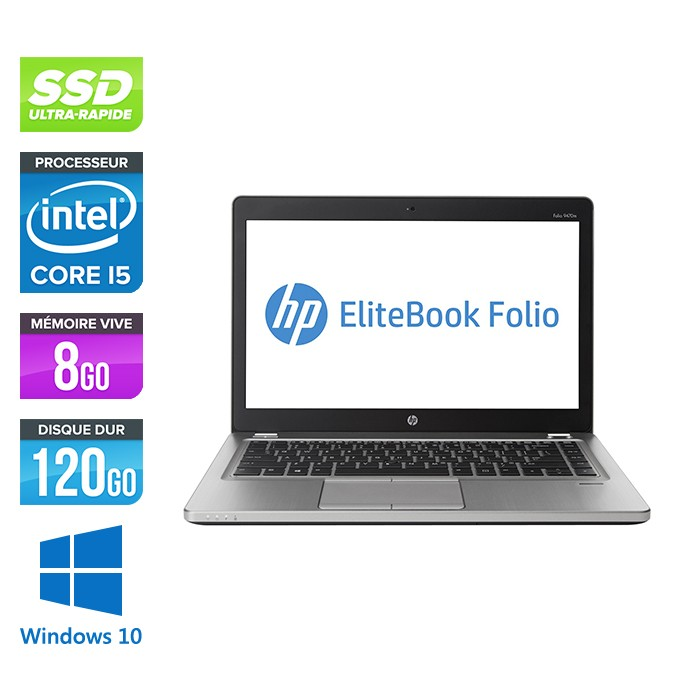 HP Folio 9470M - i5 -8Go -120Go SSD -14'' - Win 10