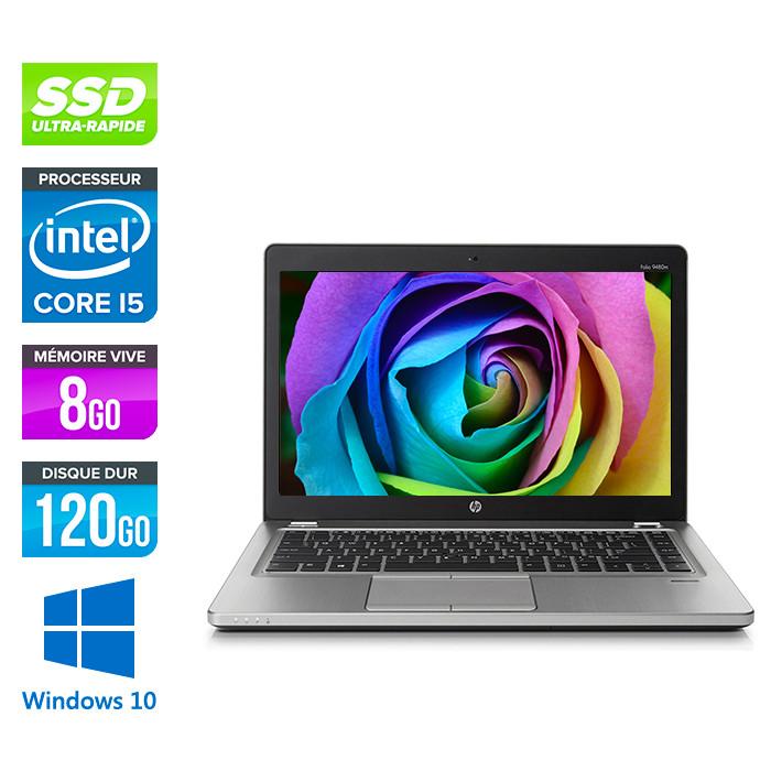 HP Folio 9470M - i5 -8Go -120Go SSD -14'' - Win 10 Home
