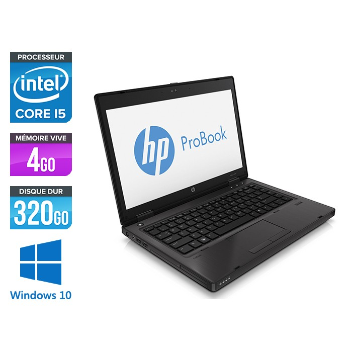 HP ProBook 6470B - i5 - 4 Go - 320 Go HDD - Windows 10 Professionnel
