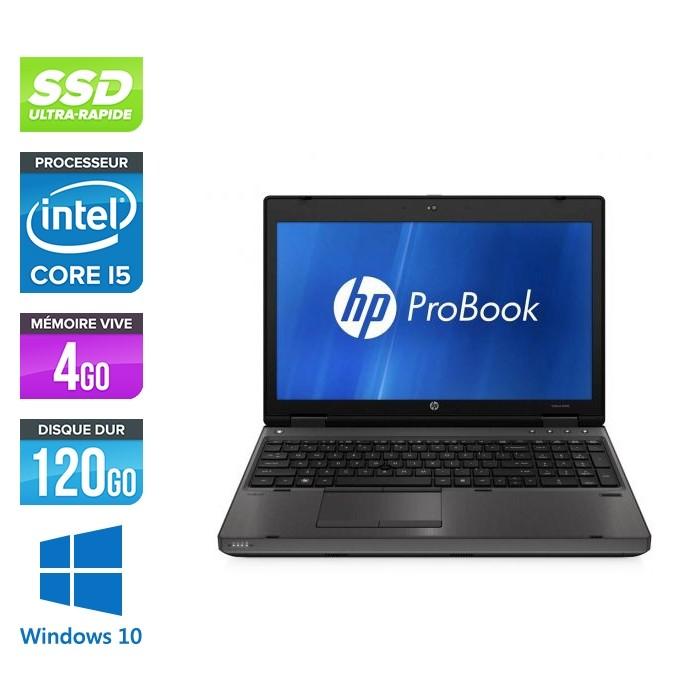 Pc portable - HP ProBook 6560B reconditionné - i5 - 4go DDR3 - SSD 120Go - Windows 10