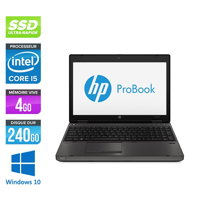 HP ProBook 6570B - i5 - 4Go - 240 Go SSD - 15.6'' - Windows 10 pro