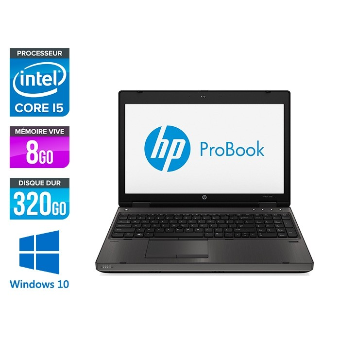 HP ProBook 6570B - i5 3210M - 8 Go - 320 Go - 15.6'' - Windows 10