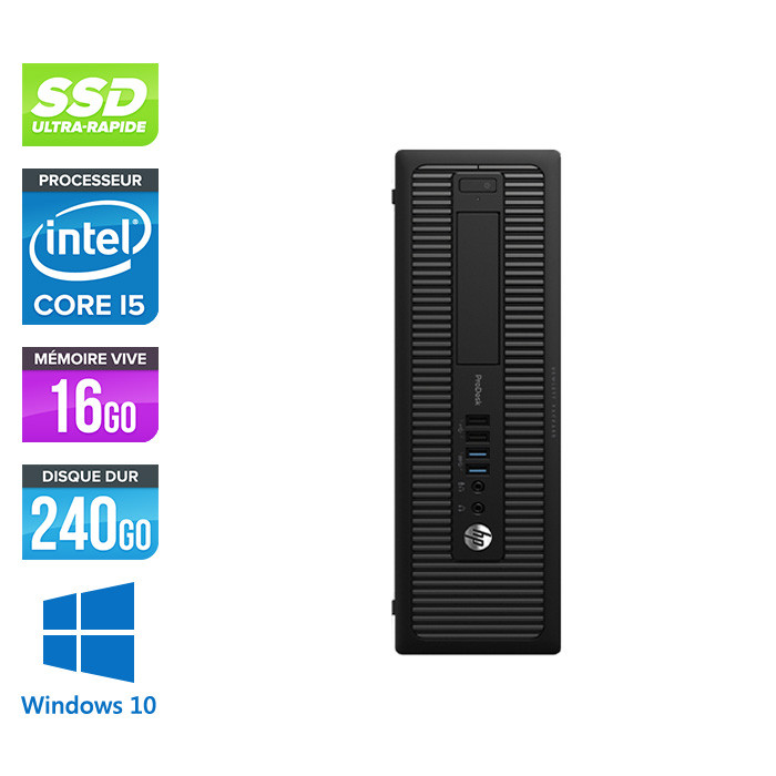 HP 600 G1 SFF - i5 - 8Go - 240Go SSD - Windows 10