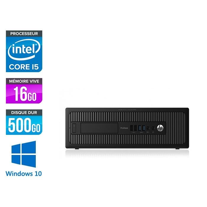 HP 600 G1 SFF - i5 - 16Go - 500Go HDD -W10