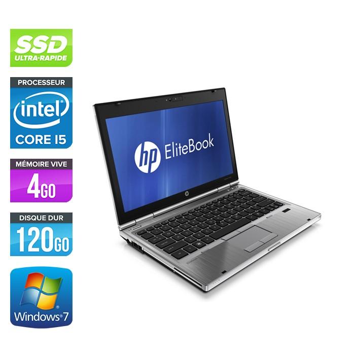 HP EliteBook 2560P - i5 - 4 Go - SSD 120 Go - W7