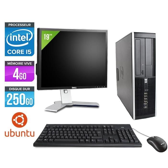 "HP Elite 8200 SFF + Ecran 19"" - Core i5 - 4Go - 250Go - linux"