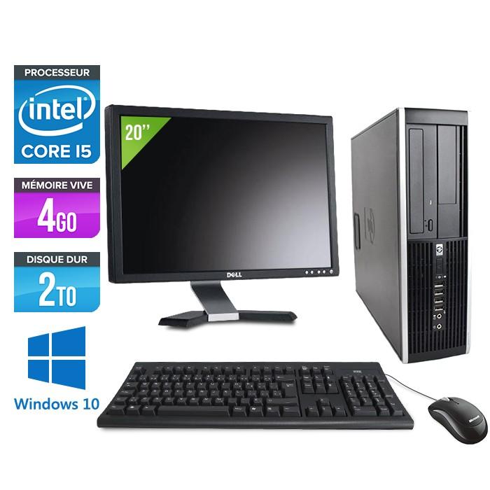 "HP Elite 8200 SFF + Ecran 20"" - Core i5 - 4Go - 2 to -Windows 10"